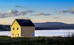 Canon (Danny VB) Tags: canon house yellow gaspesie canada 6d windows sunset yellowhouse maisonjaune summer