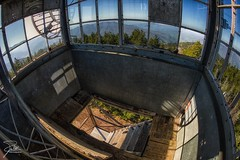 Mt. Sterling Fire Tower (Frank Kehren) Tags: mountains canon northcarolina fisheye f11 815 firetower greatsmokymountainsnationalpark ef815mmf4lfisheyeusm canoneos1dx