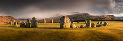 Castlerigg Panorama (Dave Fieldhouse Photography) Tags: sunset weather landscape nationalpark spring lakes lakedistrict cumbria fells keswick stonecircle castlerigg hailstorm thirlmere highseat highcrag stitchedpanorama castleriggfell lancashirelife