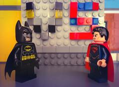 Lego Batman vs Superman (theunisdee) Tags: lego superman batman vs minifigures