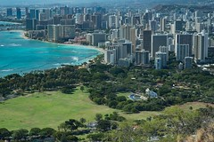 From Diamond Head (thedailyjaw) Tags: beach hawaii waikiki oahu 85mm hike diamondhead d610