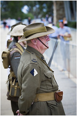 In charge (Jerome Cornick) Tags: soldier army uniform australia perth nurse ww1 kingspark sunsetservice fromelles
