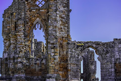 Whitby Abbey, North Yorkshire (H@y1ey) Tags: old blue sky abbey nikon ruins bricks dracula whitby northyorkshire decaying d3300