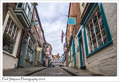 Steep Hill, Lincoln (Paul Simpson Photography) Tags: street windows england retail shopping flags lincolnshire lincoln shops cobbles steephill photosof romancity imageof photoof imagesof sonya77 paulsimpsonphotography viewsoflincoln photosofsteephill