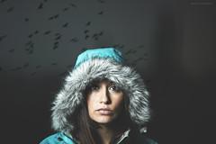 Birds... (Mauricio Narea) Tags: chile autumn winter portrait people woman face birds canon dark fun 50mm nice eyes quiet retrato lovely canonistas