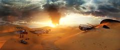 Mad Max_090 (Sspektr) Tags: sunset panorama pc screenshot disaster videogame madmax wasteland postapocalypse madmaxgame