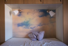 Pillow. Bed. Sky. (catohansen) Tags: blue sky abstract bed bedroom skies pillow
