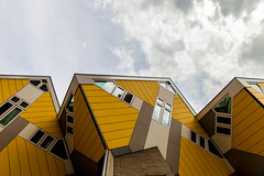 Cube house (Alessandro Pietromartire) Tags: travel house holland travelling lines yellow architecture canon project weird rotterdam europe pattern perspective lookup cube tamron architettura cubo nord northeurope prospettiva cubic unconventional travelphoto 5dmarkii archilovers
