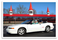 Ho-Ho-Olds-Mo'bile (bogray) Tags: lexington ky convertible christmaseve santahat oaklandraiders elninowinter cutlasssupreme unseasonablywarm 1995oldsmobile raiderclaus