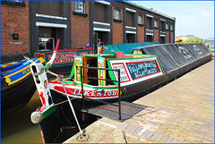 COLOURFUL NARROWBOATS. (tommypatto : ~ IMAGINE.) Tags: canals narrowboats canalboats ellesmereport inlandwaterways ellesmereportboatmuseum