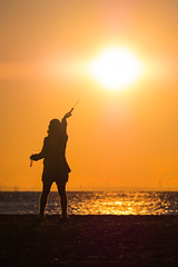 20160102_05_The warmth of the first sunrise. (foxfoto_archives) Tags: park shadow people silhouette japan by digital photoshop sunrise ed tokyo seaside mark first olympus cc human adobe ii pro   developed f28 omd haneda lightroom    2016       40150mm jonanjima  em5 20153  mzuiko