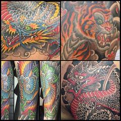 Lots of japnese stuff this year #alteredstatetattoo #pooch #tattoos