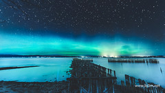 Trondheim (Bjrn Christiansen) Tags: sea sky water norway skyline night stars landscape norge seaside fotograf photographer outdoor shore aurora fjord nightsky trondheim auroraborealis milkyway nordlys longexposuretime starscape wwwbj0rnnet