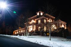Campus Twilight (Grant is a Grant) Tags: ca nightphotography winter light canada night campus novascotia ns wolfville lensflare acadia annapolisvalley starburst acadiauniversity acadiau nikond90 vsco kcic kcirvingcentre vscofilm