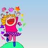 spring time (nada.musleh) Tags: girl illustration happy spring joyful الربيع بنت الفرحة رسم فرحة فتاة سعادة ندىمصلح nadamusleh
