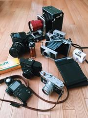 Photoshoot (Sandy Phimester) Tags: leica film analog polaroid holga kodak 180 4x5 m3 ilford largeformat speedgraphic summarit pentax67 sekonic