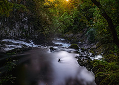follow the light (Anthony White) Tags: longexposure light sun green nature water beautiful wales river landscape waterfall unitedkingdom gb betwsycoed conwy