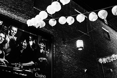 london-3-100216 (Snowpetrel Photography) Tags: winter blackandwhite gambling london monochrome chinatown streetphotography cityscapes posters lanterns walls urbanlandscapes bankside urbanlife olympusm17mmf18 olympusem5markii
