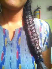Flow (kavya c) Tags: sunlight colour hair shine skin fishbraid