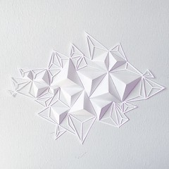 Paper Sculpture with Paper Cutting (all things paper) Tags: geometric triangles paperart papercutting dimensionalart