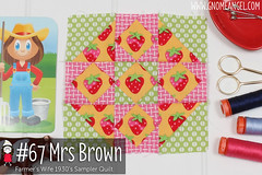 gnomeangel-farmers-wife-1930-block-67-mrs-brown-fqs (gnomeangel) Tags: modern quilt quilting patchwork tutorial farmerswife fussycutting gnomeangel fussycuttersclub farmerswife1930