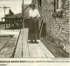 Matilda Sarah Bach (NeenahHistory) Tags: bach sooline trainstations depots