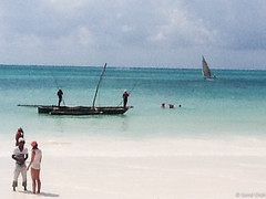 Negotiations at the Beach - 9th June 2015 (princetontiger) Tags: beach fisherman sand zanzibar dhow