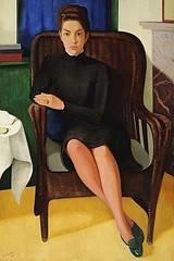 Portray of Corry Mohlenfeldt, 1939 // by Paul Citroen (mike catalonian) Tags: portrait female painting 1930s fulllength 1939 paulcitroen
