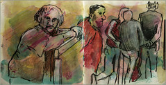 Unterstutzung (Alemwa) Tags: berlin kreuzberg sketching menschen zeichnung alltag beobachtung bung zeichnen alemwa
