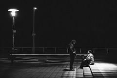 Let's talk (labuero) Tags: street blackandwhite stairs streetphotography talk reden sitt schwarzweis streetphotographie
