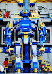 Eagle Mk. I Docked (Wafna-204) Tags: robot lego bricks mecha mech afol legospace legophotography wafna204