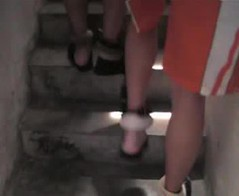 2 prisoners sharing one set of handcuffs and shackles (asiancuffs) Tags: prison shackles handcuffs prisoner handcuffed