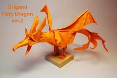 Fiery Dragon 20 Yuri Kharlamov Tags Art Paper Origami Kade Chan