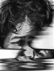 Scan 50: Found in Transmission (A Durst Photo) Tags: portrait people selfportrait eye art face hair scanner bodypart typeofphotography alternativrprocess
