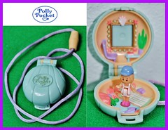 Polly pocket SEASHELL NECKLACE (Big-Eyed) Tags: blue light people vintage toys miniature necklace doll dolls box small picture casket mini collection seashell shape favourite nineties playset pollypocket playsets cofanetto