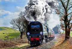 34092 City of Wells approaches Summerseat 11-03-16 (big.al1946) Tags: train bury unitedkingdom smoke sheffield railway steam steamrailway steamtrain southyorkshire eastlancsrailway summerseat alanweaver 34092cityofwells