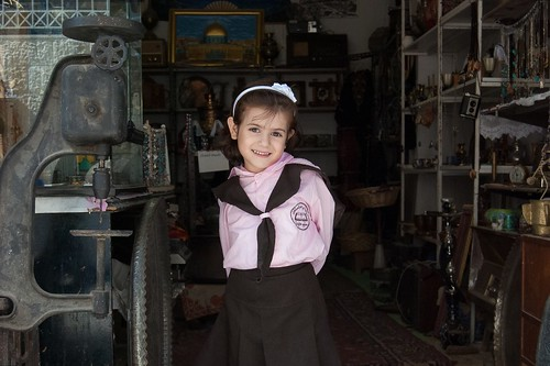 A girl from the refugee camp
