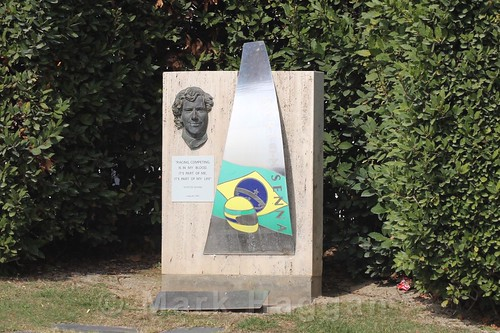 The Ayrton Senna Memorial at the Circuit de Catalunya during Formula One Winter Testing 2016
