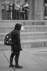 Anti-Fascist (the underlord) Tags: street slr film liverpool protest streetphotography police nikonf100 demonstration streetphoto limestreet antifascist merseyside ilfordfp4 kodakd76 nikkor80mmf18afd