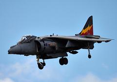Harrier (Bernie Condon) Tags: uk tattoo plane flying fighter display aircraft aviation military jet airshow bae bomber raf hawker warplane airfield harrier jumpjet ffd fairford riat raffairford airtattoo vstol riat10