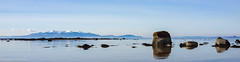 calm-sea (Rourkeor) Tags: ardrossan scotland unitedkingdom calm sea blue hills snow rocks reflections birds horizon sony sonyrx1r rx1r fullframe carlzeiss zeiss 35mm water arran island greatphotographers winter