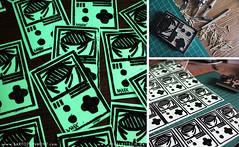 fluorescent stamped Game Boy sticker by BARTO (bartotainment) Tags: streetart graffiti sticker graphic stamp fluorescent glowinthedark slap gameboy barto linol linoldruck hochdruck bartotainment