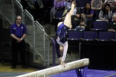 Allie Northey beam (8) (Susaluda) Tags: uw sports gold washington university purple huskies gymnastics dawgs