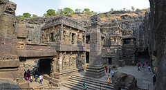 MAGNIFICENT ELLORA CAVES (GOPAN G. NAIR [ GOPS Creativ ]) Tags: india rock stone temple photography amazing ancient carving caves ellora gops kailasa gopan gopsorg gopangnair gopsphotography