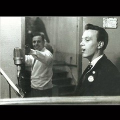 London's greatest ever bus driver... engaged in 'other duties' (boysnips) Tags: busdriver singer crooner route27 recordingstudios inuniform bondtheme mattmonro terryparsons hollowaybusgarage