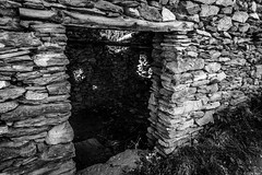 interno della baita (Clay Bass) Tags: light bw rural stones canon5d 24mm baita crissolo