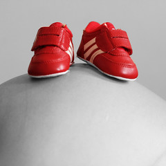 Red baby shoes (Carlos ZGZ) Tags: red wallpaper baby collage photomanipulation photoshop rouge hope rojo shoes transformation postcard mam mother pregnancy remix barriga manipulation pregnant zapatos belly beb creativecommons grossesse enceinte photomontage postal adidas 2d retouch ventre madre esperanza adaptation chaussures embarazo embarazada selectivecolor mre espoir cartepostale maternidad tripa fondodepantalla ccby freepictures openlicense freeculturalworks carloszgz cmstoolsphotoring myfavnew