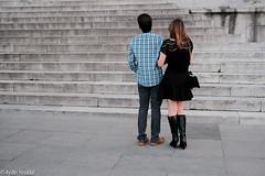 Black (Aydin Yesildal (Street, Portrait of Urban People)) Tags: field turkey 3d couple dof dress f14 istanbul x pop best fujifilm cami fujinon depth yeni eminn sirkeci pro2 23mm xpro2