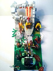 Centaur Attack (dfendbricks) Tags: lego legocastle legomoc brickforge legomedieval legotroll legofantasy legocentaur