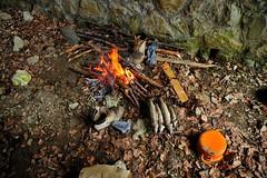 alternative dining (xanto91) Tags: camping wild urban fire shoes ngc adventure brace fuoco scarpe abruzzo trote grigliata avventura barboni